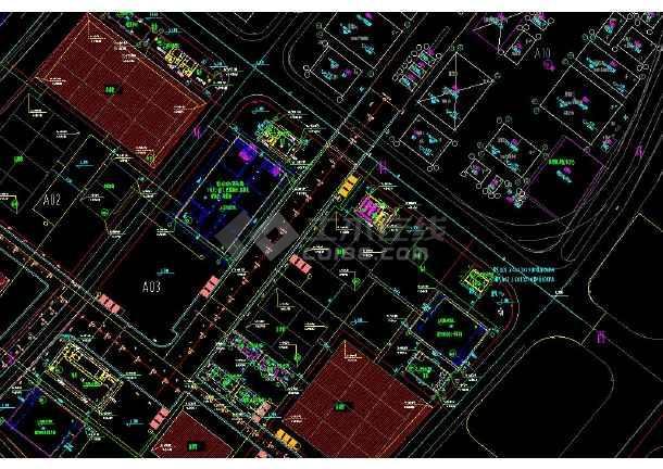 上海世博会给排水和消防管线cad设计平面图-图3