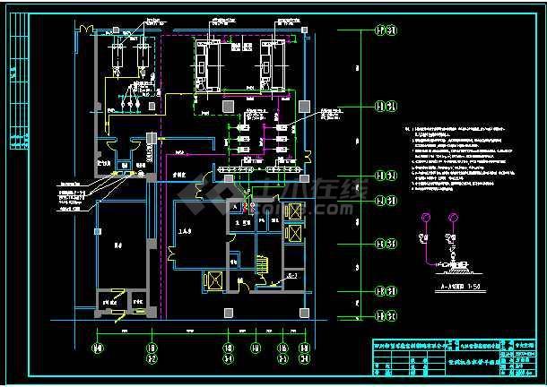 九江一办公培训大楼生活热水锅炉及空调直燃机机房设计-图1