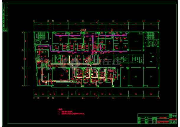 某市疾病控制中心实验楼(含P3室)空调图-图3