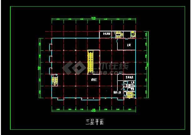 超市建筑设计施工全套CAD大样图-图1