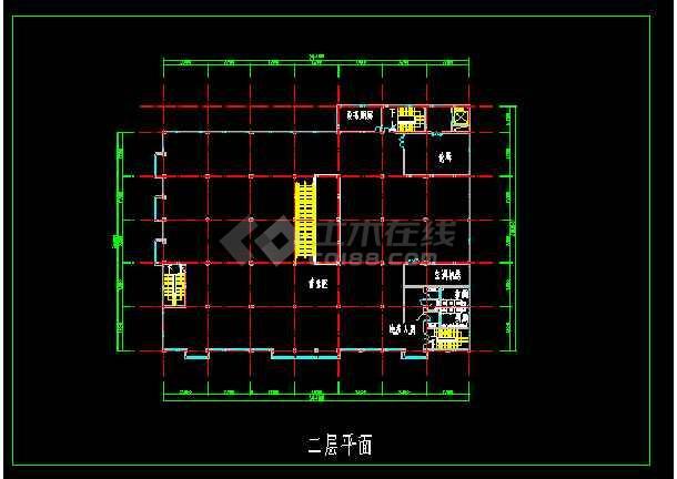 超市建筑设计施工全套CAD大样图-图2