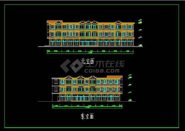 超市建筑设计施工全套CAD大样图-图3