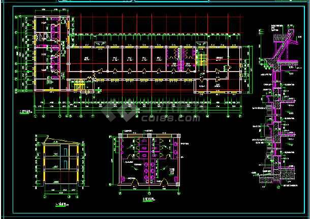 社报局办公楼建筑施工设计全套CAD图-图2