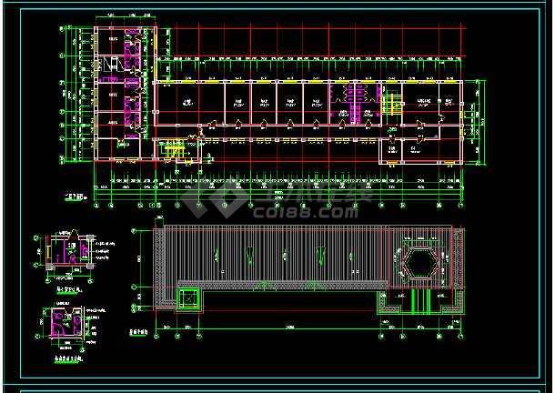 社报局办公楼建筑施工设计全套CAD图-图3