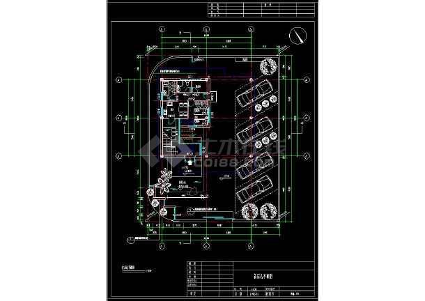 某地多层现代简约风格别墅建筑设计cad方案图(含设计说明)-图1