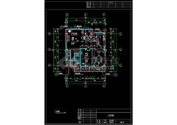 某地多层现代简约风格别墅建筑设计cad方案图(含设计说明)-图2