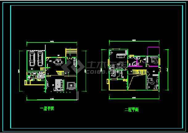 某多层现代风格经典别墅建筑设计CAD图-图1