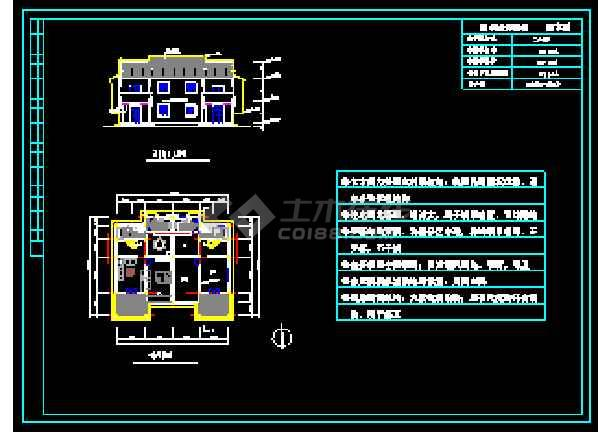 某地多层经典别墅建筑设计CAD图-图1