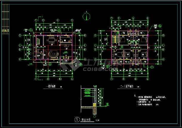 某地私人住宅别墅建筑设计cad方案图带效果图(含设计说明)-图1