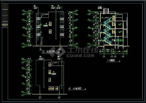 某地私人住宅别墅建筑设计cad方案图带效果图(含设计说明)-图3