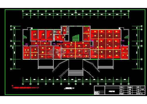 经典住宅地暖采暖系统设计平面施工图-图1