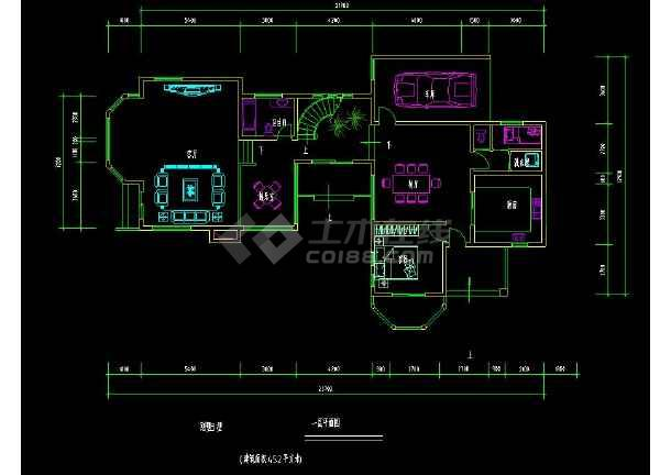 某地住宅项目之别墅建筑设计cad户型图-图1