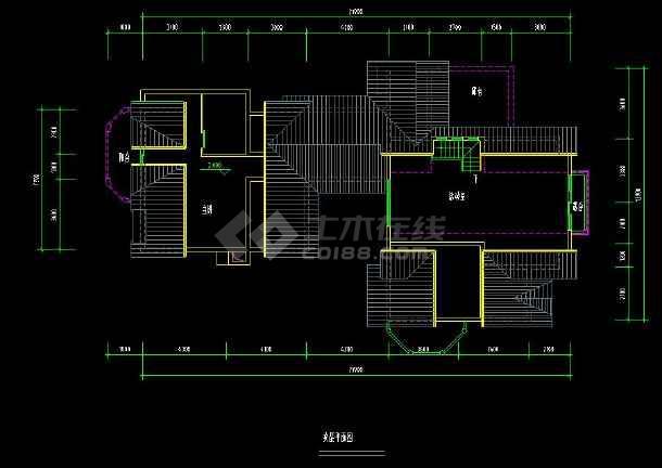 某地住宅项目之别墅建筑设计cad户型图-图3