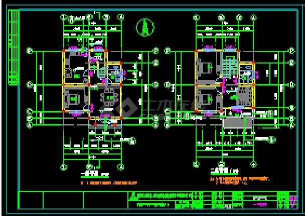 某地独立现代风格别墅建筑设计cad图-图1