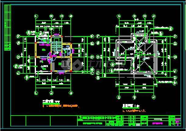 某地独立现代风格别墅建筑设计cad图-图2