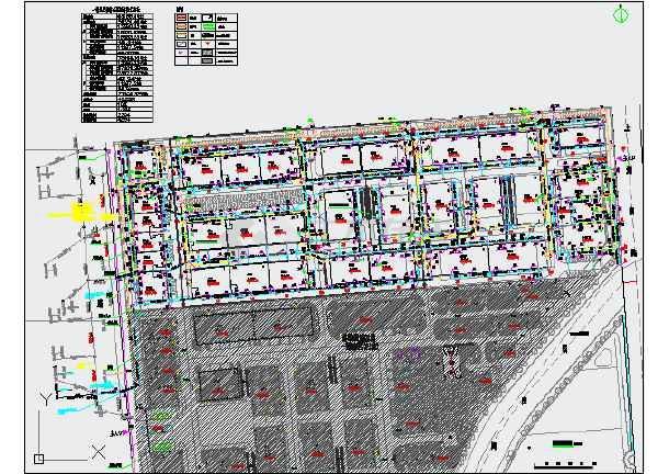 湖州某节能环保产业园(一期)室外工程设计图纸(含电气和给排水)-图1