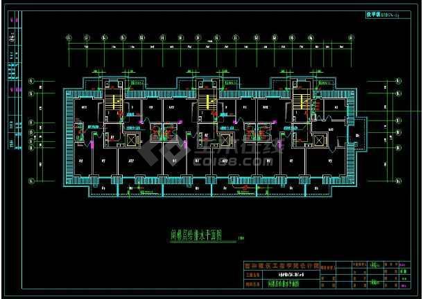 小区高层商品房给排水和采暖cad设计全套图-图3