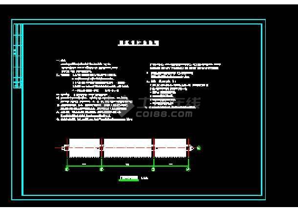 某生态园南天门建筑cad施工设计图-图3