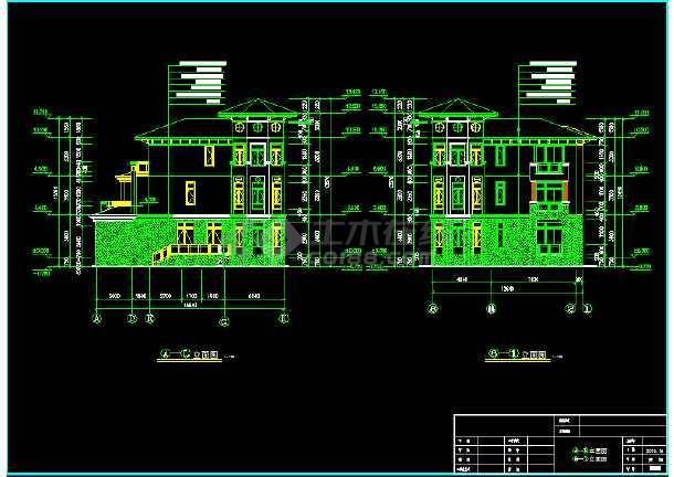 某市区水岸豪门钻石C型别墅CAD图纸-图2