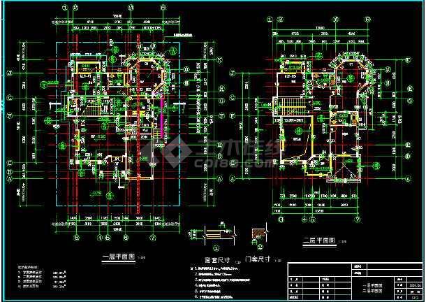 某市区水岸豪门钻石C型别墅CAD图纸-图3