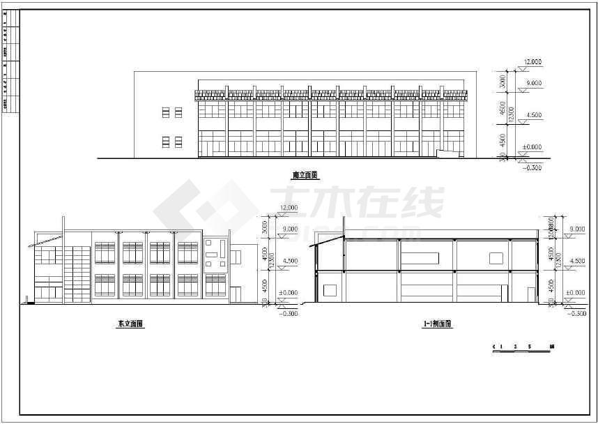 某地小型食堂建筑方案图(标注详细)-图3