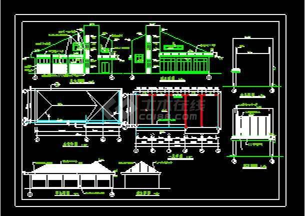 乡村委办公楼建筑cad施工设计图-图3