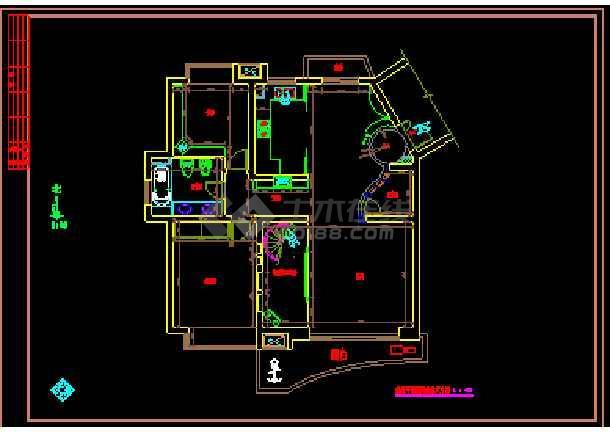 某跃层套房室内施工装修cad设计图