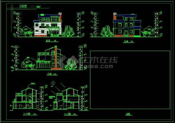某地新农村住宅别墅建筑设计CAD方案图(含设计说明)-图1