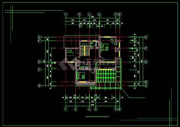 某地新农村住宅别墅建筑设计CAD方案图(含设计说明)-图2
