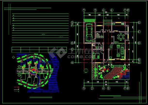 某地新农村住宅别墅建筑设计CAD方案图(含设计说明)-图3