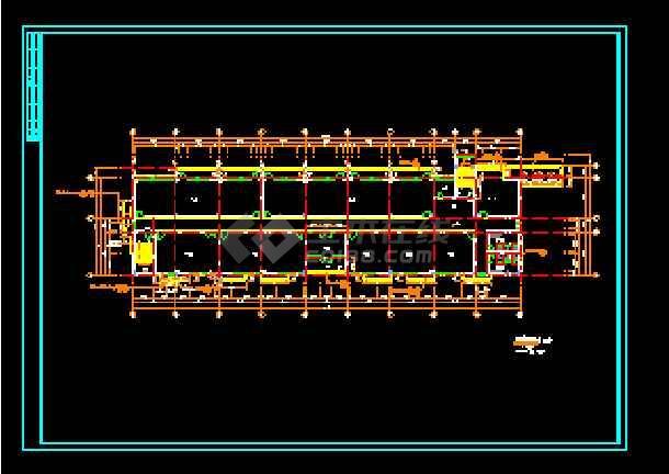 经典五层办公楼建筑cad平面施工设计图-图1