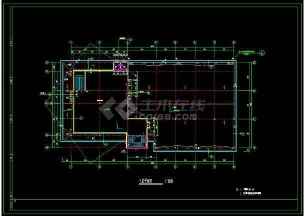 某小区内高级会所建筑cad设计施工方案图-图2