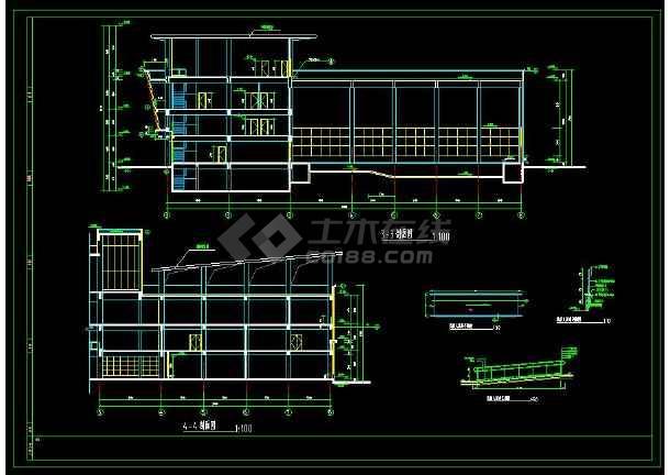 某小区内高端会所建筑cad设计施工图纸-图2