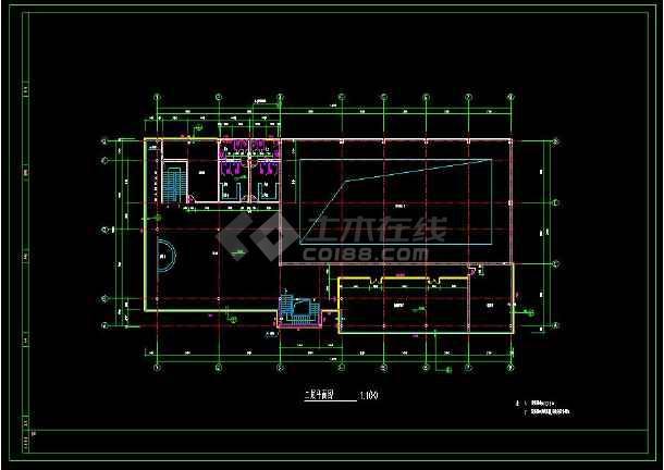 某小区内高端会所建筑cad设计施工图纸-图3
