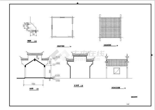 图纸美丽区域同仁村乡村绿化工程CAD缩写(含什么是图纸在中三通的全套图片