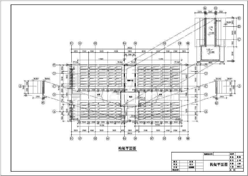 某地十二层商主楼建筑施工图(标注详细)-图3