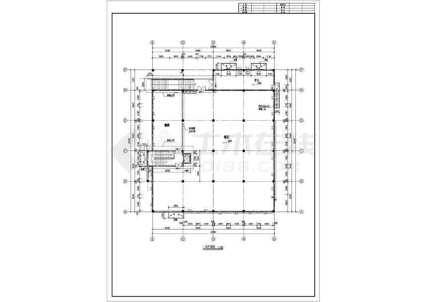 某地食堂建筑施工图(含设计说明)-图1