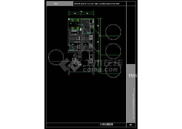 某地简单现代风格别墅建筑设计CAD方案图-图2
