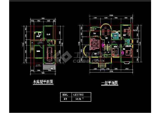 11套别墅户型CAD平立面设计方案图-图1
