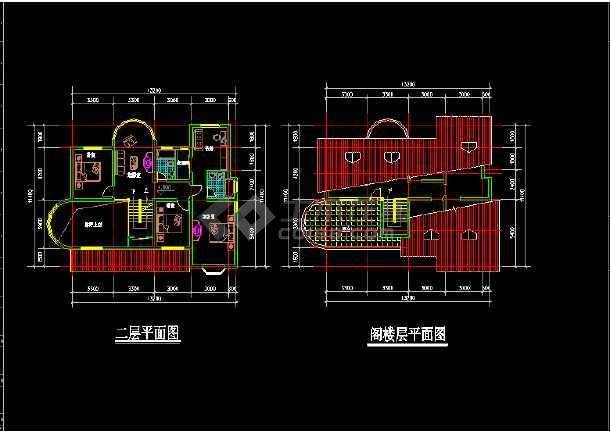 11套别墅户型CAD平立面设计方案图-图2