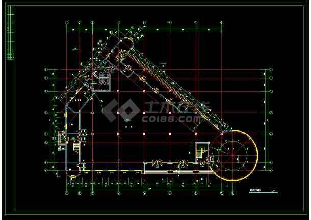 某小区高档会所建筑设计CAD施工图-图1
