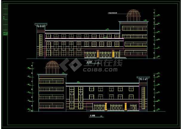 某小区高档会所建筑设计CAD施工图-图2