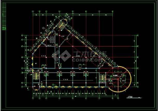 某小区高档会所建筑设计CAD施工图-图3