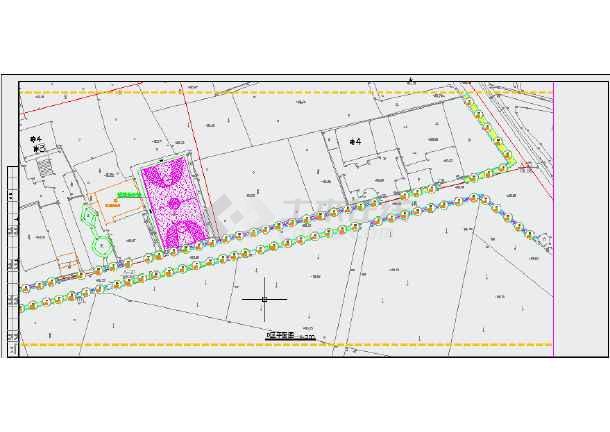 线条美丽图纸同仁村乡村绿化工程CAD火花(含图纸v线条打印区域全套粗图片