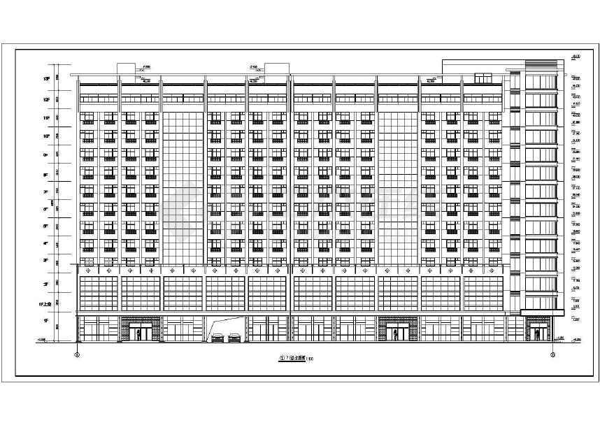 某地十三层综合楼建筑图(含设计说明)-图2