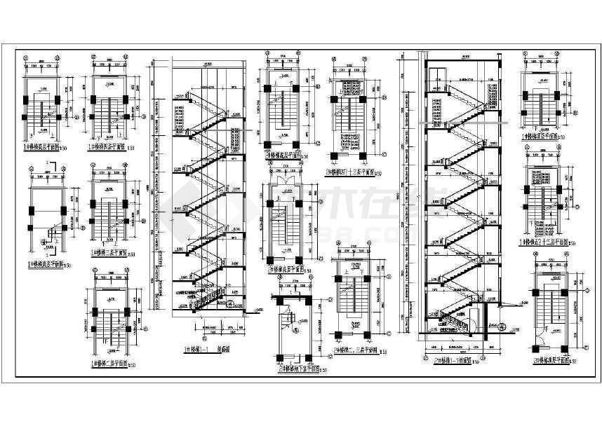 某地十三层综合楼建筑图(含设计说明)-图3