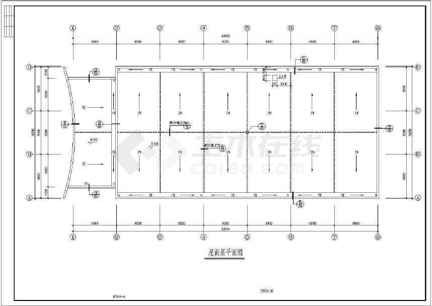 某地小型食堂建筑图(含设计说明)-图1