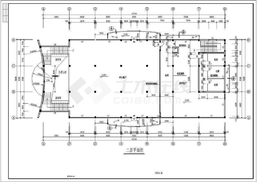 某地小型食堂建筑图(含设计说明)-图2