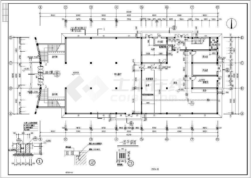 某地小型食堂建筑图(含设计说明)-图3