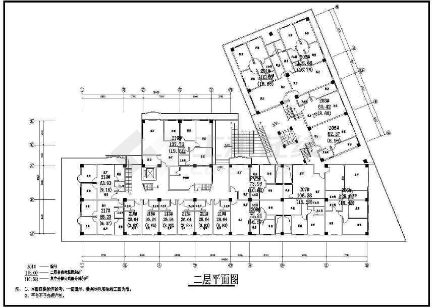 某地时代广场建筑图纸(标注详细)-图3